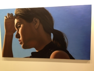 Richard Phillips's Sasha IV (2013). A portrait of porn-actress and, recently, Steven Soderbergh's muse, Sasha Grey.