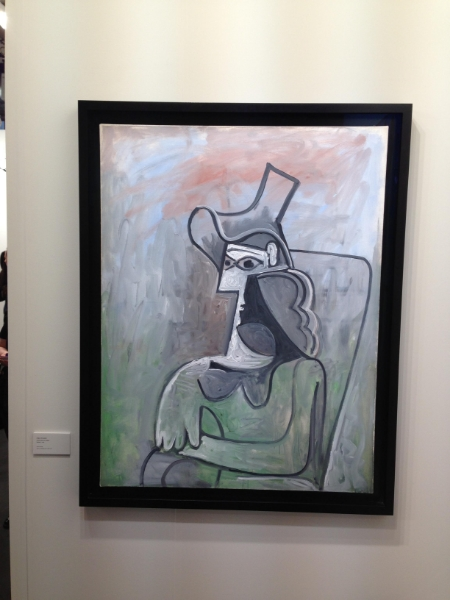 Pablo Picasso's Femme Assise au Chapeau (1961). The art gallery Acquavella bought it in 2011 for $4.3 million.